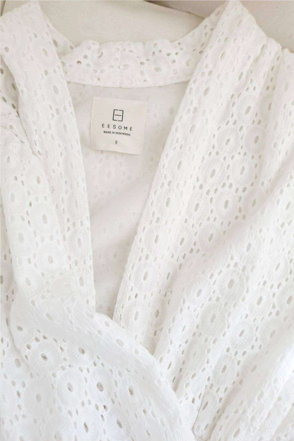 Ally Dress White Daisy - EESOME