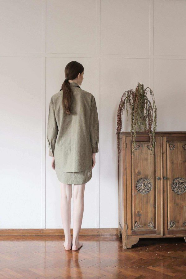Lany Shirt Dress Olive EESOME