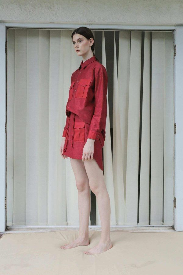 Lany Shirt Dress Red EESOME