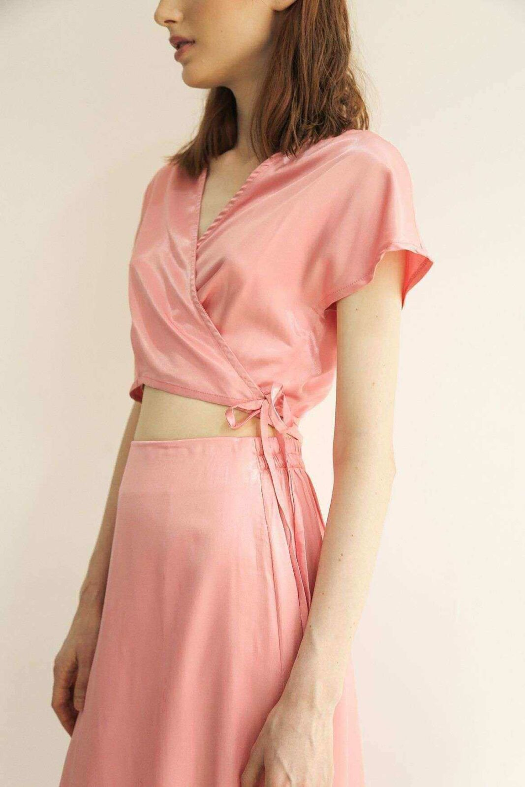 Liva Wrap Top Rose EESOME