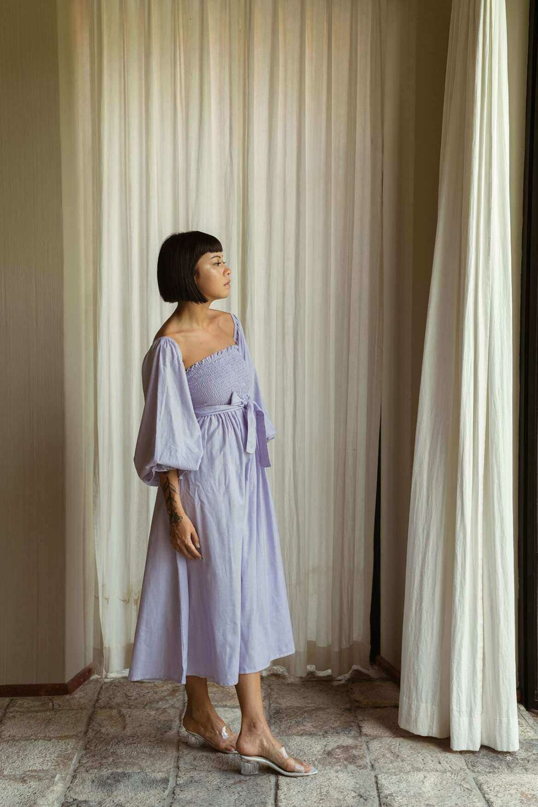 Victoria Dress French Lilac - EESOME