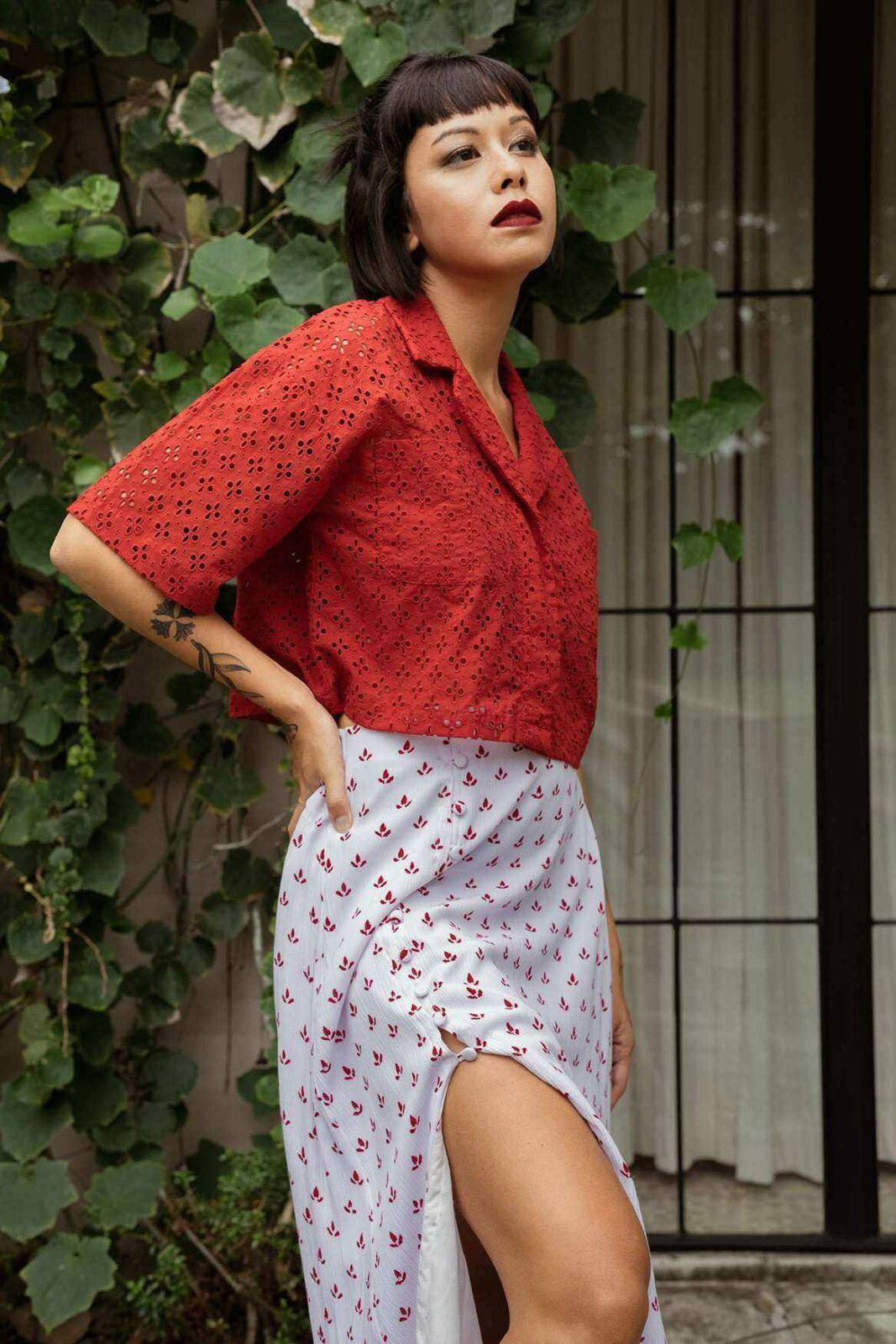 Yora Shirt Red - EESOME